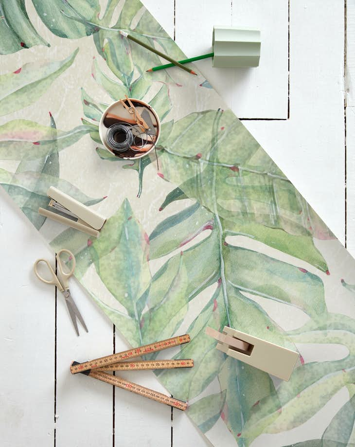 Buy Green Tropical Leaves Wallpaper Free Us Shipping At Happywall Com A wide variety of green leaves wallpaper options are available to you, such as style, textile wallpaper material, and wallpapers type. green tropical leaves wallpaper